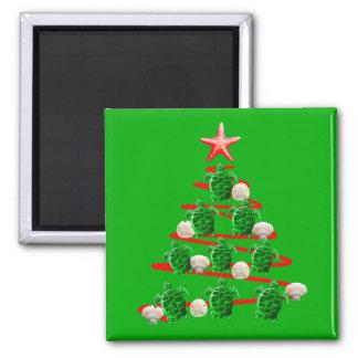 Imã Árvore de Natal das tartarugas de mar verde