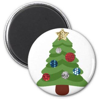 Imã árvore de Natal do emoji