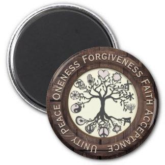 Imã Árvore de paz de mundo de vida