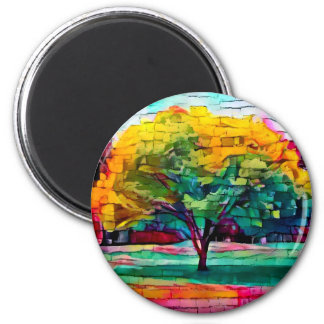 Imã Árvore do outono em cores vívidas