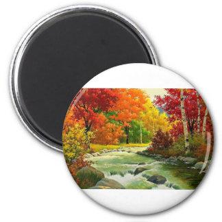 Imã Árvores do outono pelo rio