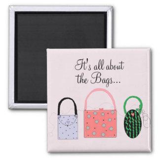 Imã As bolsas elegantes com provérbio bonito