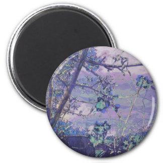 Imã As flores abstraem a violeta