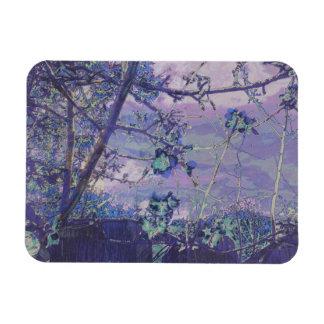 Ímã As flores abstraem a violeta