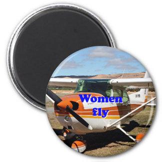 Imã As mulheres voam: aviões altos da asa