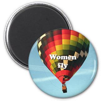 Imã As mulheres voam: balão de ar quente