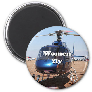 Imã As mulheres voam: helicóptero azul