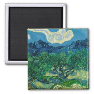 Imã As oliveiras com Alpilles Vincent van Gogh