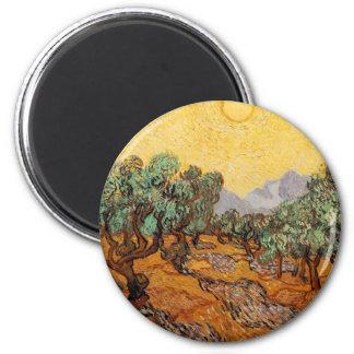 Imã As oliveiras de Vincent van Gogh (Azeitonas trees)