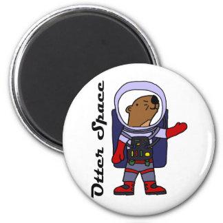 Imã Astronauta engraçado da lontra de mar em desenhos