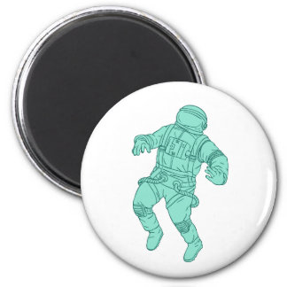 Imã Astronauta que flutua no desenho do espaço