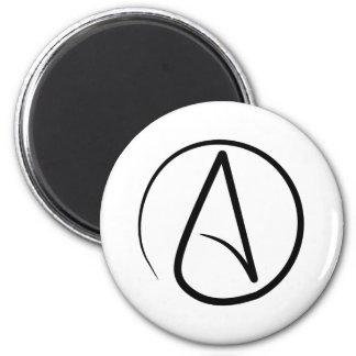 Ímã ateu do símbolo ímã redondo 5.08cm