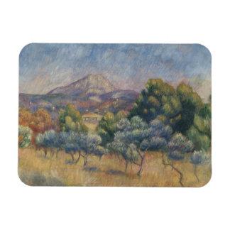 Ímã Auguste Renoir - a montanha de Sainte-Victoire