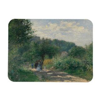 Ímã Auguste Renoir - uma estrada em Louveciennes