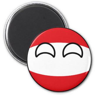 Imã Áustria Geeky de tensão engraçada Countryball