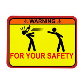 Ímã AVISO: Para sua segurança, <<YOUR TEXT HERE>>