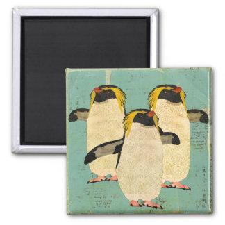 Ímã azul da lagoa dos pinguins ímã quadrado