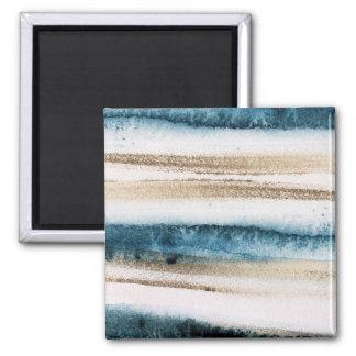 Imã Azul da pintura e ouro escovados abstrato do falso