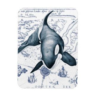 Ímã Azul do mapa da orca