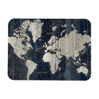 Ímã Azul do mapa de Velho Mundo