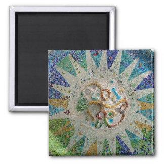 Imã Azulejos de Nouveau Gaudi da arte