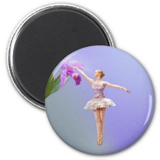 Imã Bailarina e orquídea