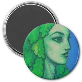 Imã Balanis, dríade, folhas verdes, deusa da floresta,