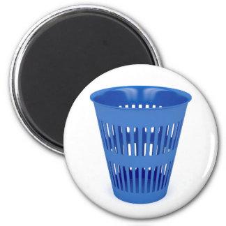 Imã Balde do lixo azul