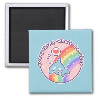 Imã Baleia bonito do arco-íris
