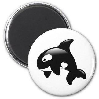 Imã Baleia pequena bonito da orca