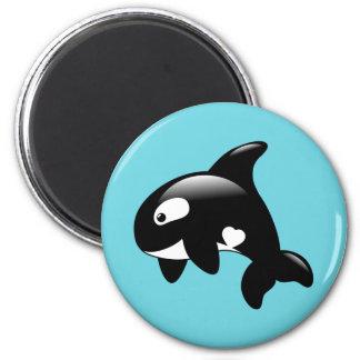 Imã Baleia pequena bonito da orca no Aqua
