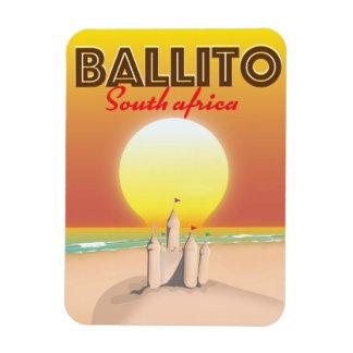 Ímã Ballito sul - poster de viagens africano