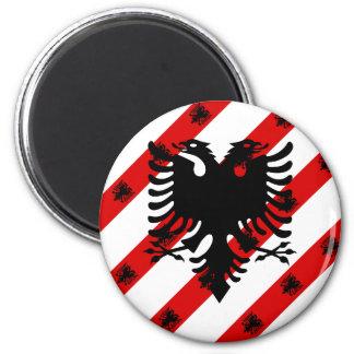 Imã Bandeira albanesa das listras