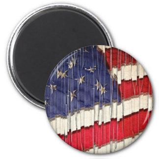Imã Bandeira americana abstrata