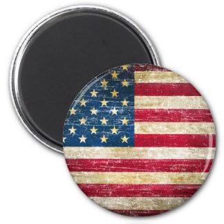 Imã Bandeira americana do Grunge