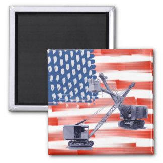 Imã Bandeira americana noroeste de operador e de pá de