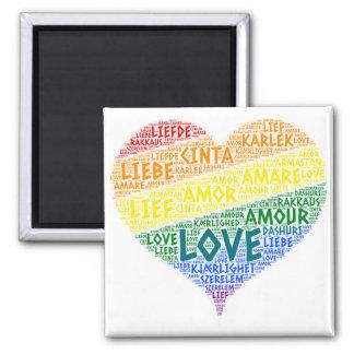 Imã Bandeira da lareira do arco-íris de LGBT ilustrada
