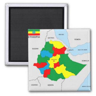 Imã bandeira do mapa do país de Etiópia