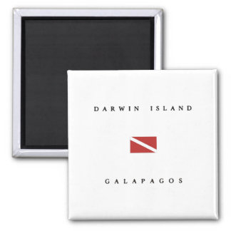 Imã Bandeira do mergulho do mergulhador de Galápagos