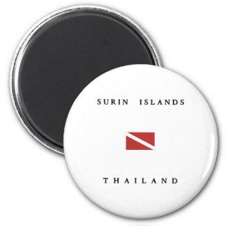 Imã Bandeira do mergulho do mergulhador de Tailândia