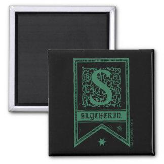 Imã Bandeira do monograma de Harry Potter | Slytherin
