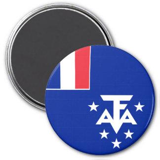 Imã Bandeira do sul e antárctica francesa das terras