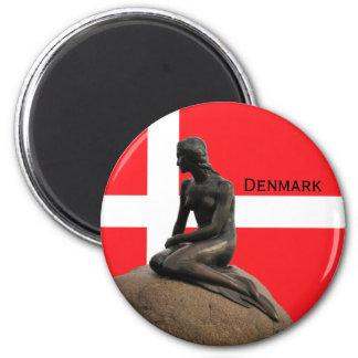 Imã Bandeira e sereia de Dinamarca