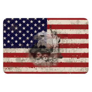 Ímã Bandeira e símbolos dos Estados Unidos ID155
