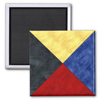Imã Bandeira marítima do sinal náutico da aguarela