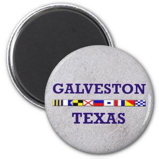 Imã Bandeira náutica de Galveston - ímã da areia
