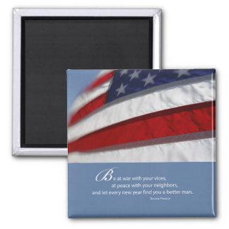 Imã Bandeira patriótica, americana