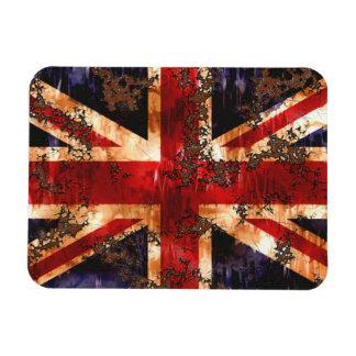 Ímã Bandeira patriótica oxidada de Reino Unido