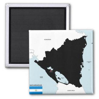 Imã bandeira política do mapa do país de Nicarágua