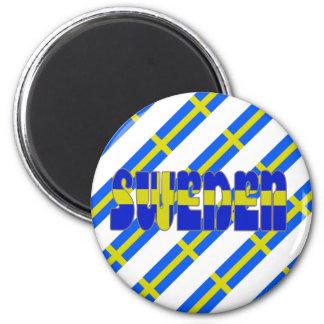 Imã Bandeira sueco das listras